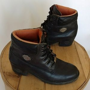 Harley Davidson Lace Up Ankle Boots 28890